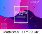 modern abstract liquid poster... | Shutterstock .eps vector #1574211730