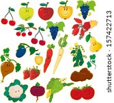 fruits and vegetables | Shutterstock .eps vector #157422713