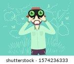 illustration of a man using... | Shutterstock .eps vector #1574236333