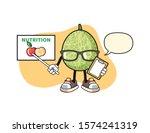 melon nutritionist with speech...   Shutterstock .eps vector #1574241319