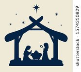 vector nativity scene christmas ... | Shutterstock .eps vector #1574250829