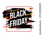 brush sale banner vector... | Shutterstock .eps vector #1574309839