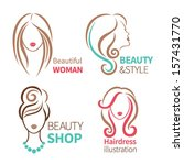 color set of four beauty icon.... | Shutterstock .eps vector #157431770