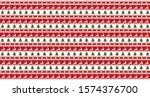 seamless christmas pattern with ... | Shutterstock .eps vector #1574376700