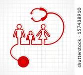 stethoscope make family icon ... | Shutterstock .eps vector #157438910