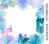 neon tropical vector background ...   Shutterstock .eps vector #1574389450