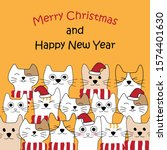 cute doodle cats style for... | Shutterstock .eps vector #1574401630