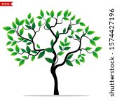 tree plants and green leaves... | Shutterstock .eps vector #1574427196