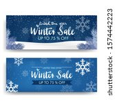 winter sale with ice and... | Shutterstock .eps vector #1574442223