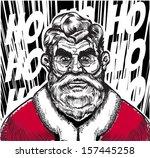 serious santa portrait | Shutterstock .eps vector #157445258