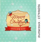 typography christmas greeting... | Shutterstock .eps vector #157446056