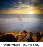 Sunset Over The Markermeer In...