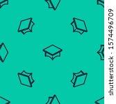 blue line graduation cap icon... | Shutterstock .eps vector #1574496709