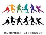 football soccer player vector...   Shutterstock .eps vector #1574500879