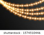 glowing christmas lights... | Shutterstock .eps vector #1574510446