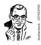 consultant   retro clip art... | Shutterstock .eps vector #157452950