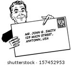 man with banner   retro clip... | Shutterstock .eps vector #157452953