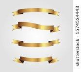 set of golden ribbons vector. | Shutterstock .eps vector #1574534443