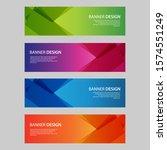 vector abstract design banner... | Shutterstock .eps vector #1574551249