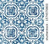 hand drawn seamless pattern.... | Shutterstock . vector #1574570803
