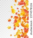 maple leaves vector  autumn... | Shutterstock .eps vector #1574578126