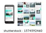 social media pack. business... | Shutterstock .eps vector #1574592460