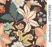 vintage flower pattern | Shutterstock .eps vector #157459250