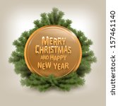 merry christmas. vector... | Shutterstock .eps vector #157461140