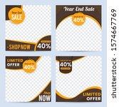 social media sale promotion... | Shutterstock .eps vector #1574667769