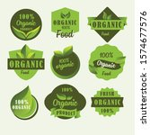 set of organic product label... | Shutterstock .eps vector #1574677576