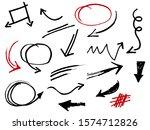 hand drawn of doodle set.... | Shutterstock .eps vector #1574712826
