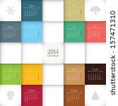 vector 2014 calendar template | Shutterstock .eps vector #157471310