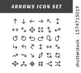 a set of arrow icons with... | Shutterstock .eps vector #1574715019