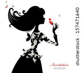 Silhouette Of A Beautiful...