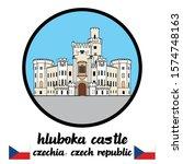 Circle Icon Hluboka Castle ....