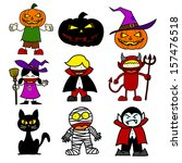 halloween character  cartoon... | Shutterstock .eps vector #157476518