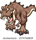 angry t rex dinosaur running at ... | Shutterstock .eps vector #1574768839