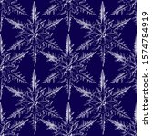 Large Snowflake Print Pattern....