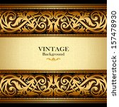 vintage gold background ... | Shutterstock .eps vector #157478930