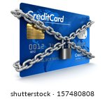 Credit Card And Lock  Clipping...