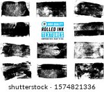 11 rolled ink rectangle textures | Shutterstock .eps vector #1574821336