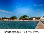 alcudia beach  mallorca ... | Shutterstock . vector #157484993