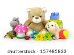 toys on white background  | Shutterstock . vector #157485833