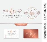feminine logo collections... | Shutterstock .eps vector #1574887423