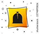 Black Pirate Sack Icon Isolated ...