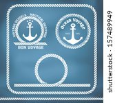 sailing badges with anchor and... | Shutterstock .eps vector #157489949