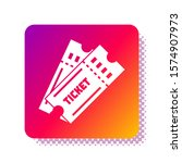 white ticket icon isolated on... | Shutterstock .eps vector #1574907973