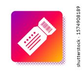 white ticket icon isolated on... | Shutterstock .eps vector #1574908189