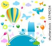 happy world  abstract design...   Shutterstock .eps vector #15749254