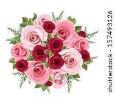 roses bouquet. vector... | Shutterstock .eps vector #157493126